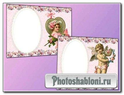 Рамки для фотошоп - Розовая нежность
