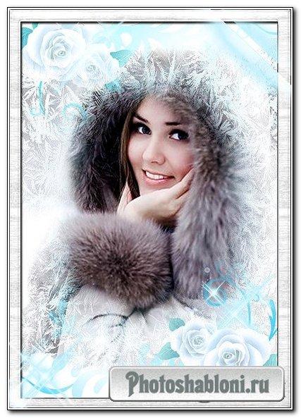 Рамка для фото – Узорами зима раскрасила все окна