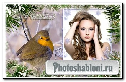 Рамка для фото – волшебство зимнего леса 2