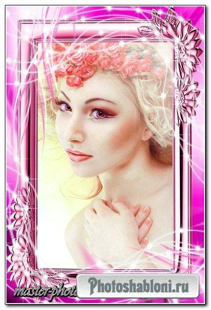 Романтическая рамка для фотошопа – Лиловый рай