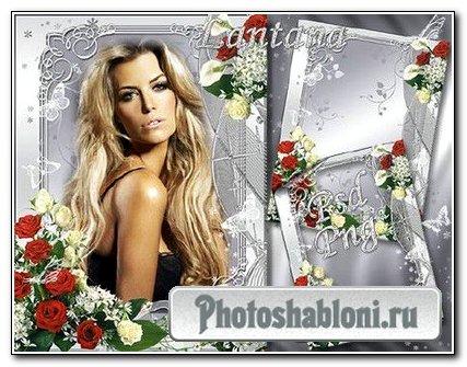 Рамка для фото - Роза белая, роза красная...