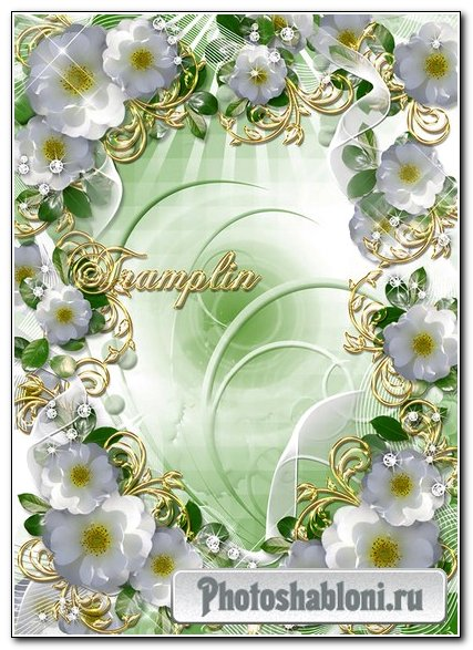 Рамка для фото с белыми цветами – В душе всегда весна