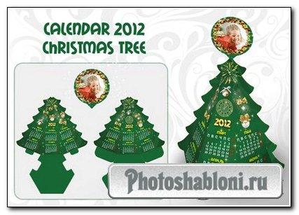 Календарь в форме елочки 2012