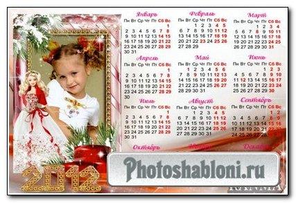 Календарь новогодний-Барби 1