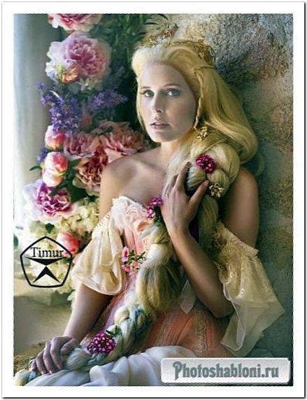 Женский шаблон для фотошопа - Златовласка