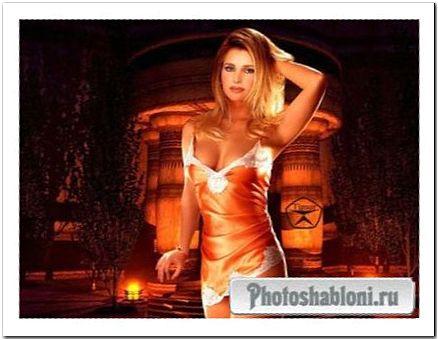 Женский шаблон для фотошопа - Ночь любви