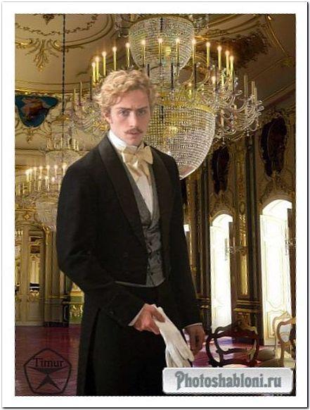 Мужской шаблон для фотошопа - Молодой князь