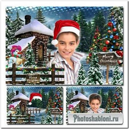 Праздничная рамка для фотошопа - Рождественские истории