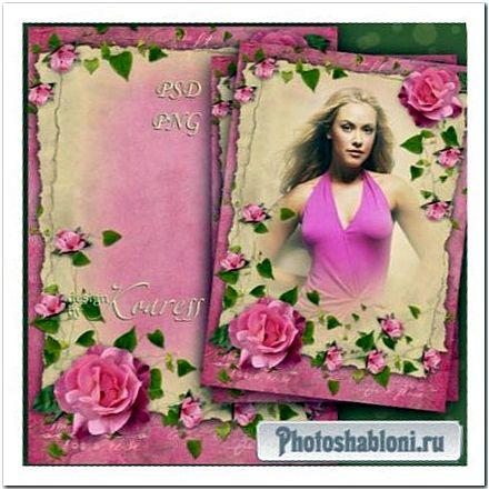 Винтажная рамка для фотошопа - Очарование винтажных фотографий