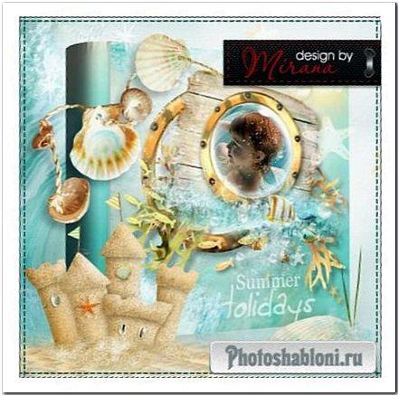 Фотокнига для оформления фотографий с отпуска - Летние каникулы на море