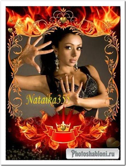 Рамка для Photoshop - Танец страстного огня