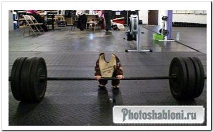 Шаблон для photoshop - малыш чемпион