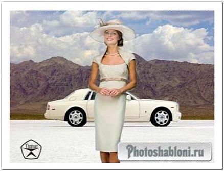 Женский шаблон для фотошопа - Фото в горах