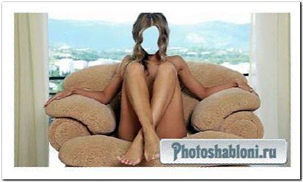 Шаблон для фотомонтажа - На кресле у окна