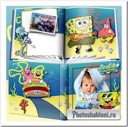 Детская фотокнига - Губка Боб Квадратные Штаны