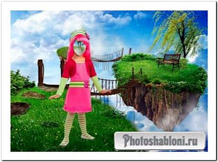 Шаблон для фотошопа - Девочка в сказке