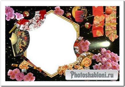 Рамка для фото в японском стиле Цветы сакуры