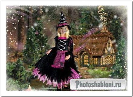 Детский шаблон для Photoshop - Маленькая волшебница