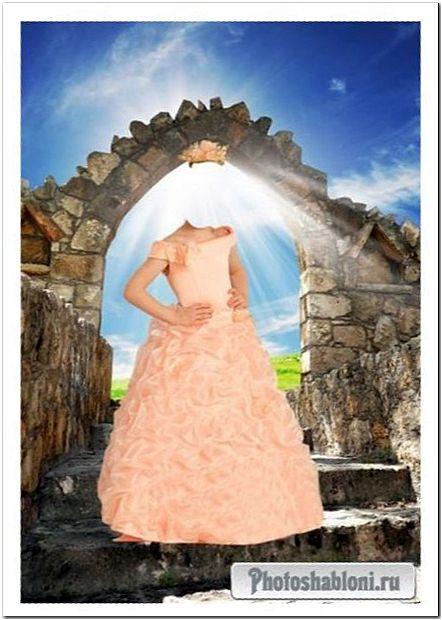 Шаблон для фотошопа - Маленькая принцесса в розовом платье