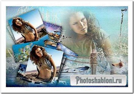 Рамочка для фотошоп - Воспоминания о нашем лете