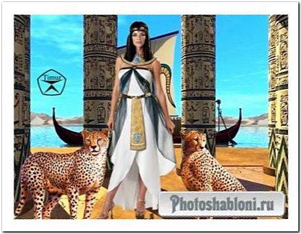 Женский шаблон для фотомонтажа - Царица Клеопатра