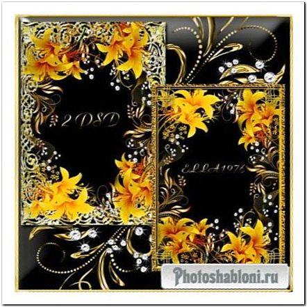 Золотые рамки с цветами и бриллиантами (Часть1)