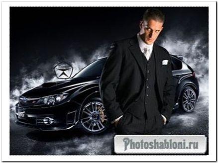 Мужской шаблон для фотошопа - Мистер икс