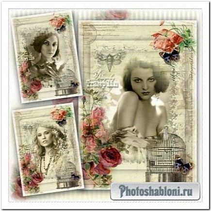 Винтажная рамка - Стильная женщина, стильно одета, смотрится супер в своем Винтаже