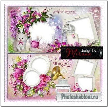 Шаблон цветочной фотокниги - Моя мечта яркими красками