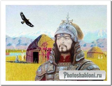 Мужской шаблон для фотомонтажа - Кипчак, Воин степи