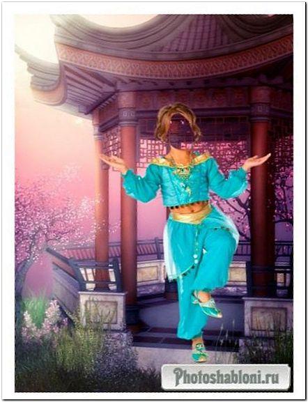Шаблон для фотошопа - Восточный танец