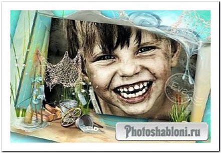 Детская рамка для фотошопа - Веселое детство