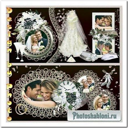 Свадебная фотокнига в коричневых тонах - Шоколадная свадьба