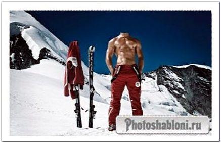 Шаблон для мужчин - Теплый курорт в горах