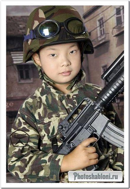 Детский шаблон для фотошопа - Командир взвода