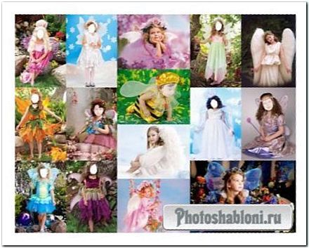 Фотошоп шаблоны для девочек - Ангелы, Феи, Бабочки