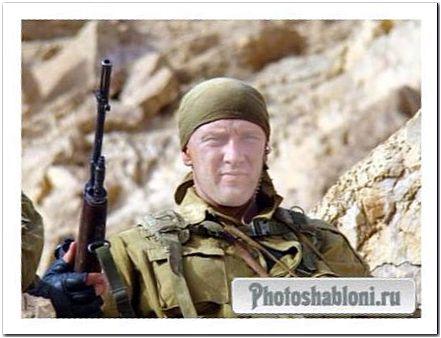 Мужской шаблон для фотомонтажа к 23 февраля - Элитный спецназ