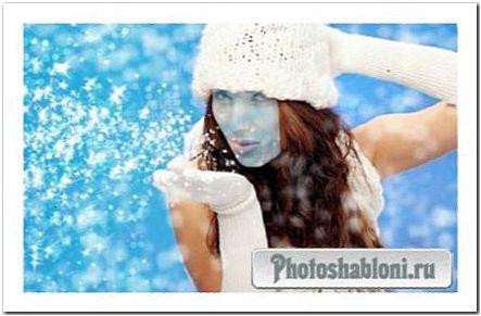 Шаблон для photoshop - Новогодние колдовство