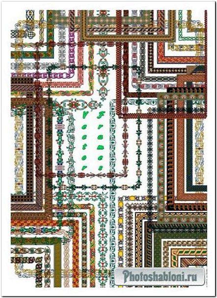 Векторные рамки-вырезы с орнаментом