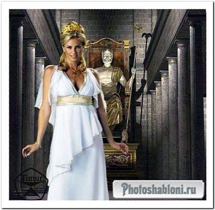 Женский шаблон для фотошопа - Мир древней Греции