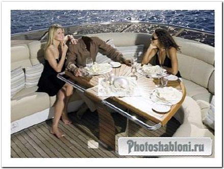 Шаблон psd - Отдых в море на яхте с хорошей компанией