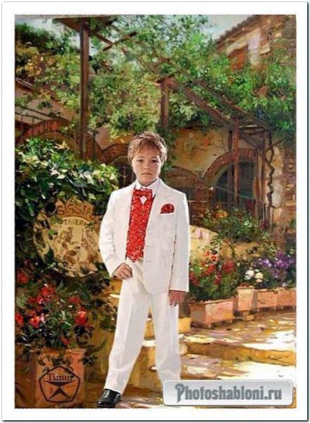 Детский шаблон для фотошопа - Живописный мальчик
