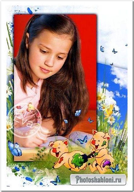 Детская рамка для фото - Веселые поросята