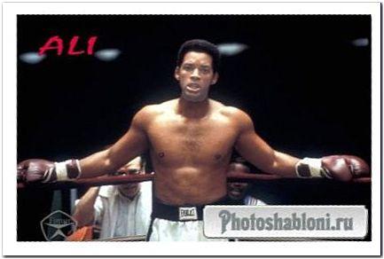 Мужской шаблон для фотомонтажа - На ринге