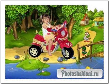Шаблон для фото У пруда