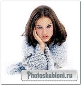 Женский шаблон для фотошопа - Холод