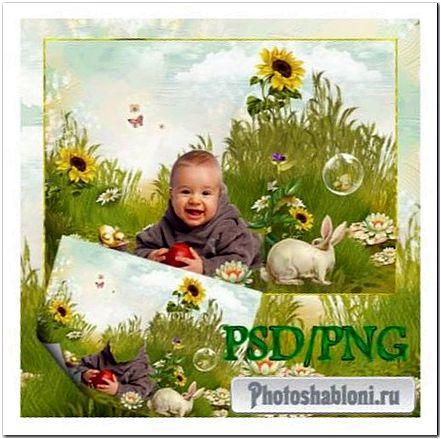 Шаблон для Фотошопа детский - Пикник