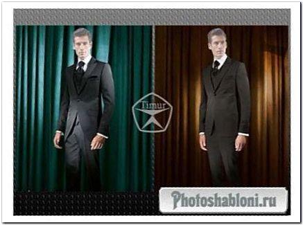 Мужские шаблоны для фотомонтажа - Костюмы