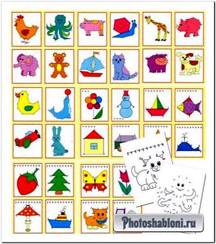 Математические раскраски для детей - От точки до точки