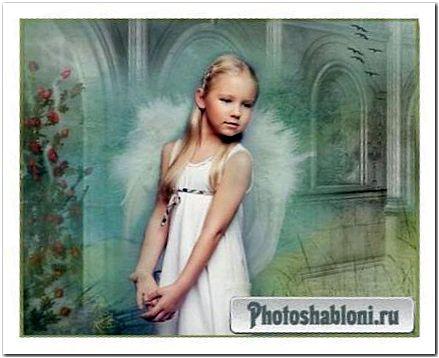 Шаблон-открытка Светлый Ангел